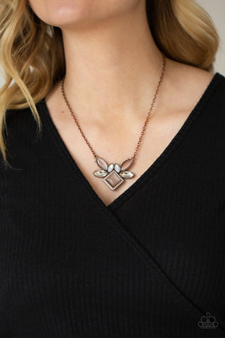 Paparazzi Amulet Avenue - Copper Necklace