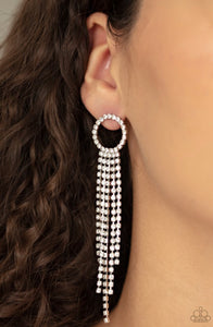 Paparazzi Endless Sheen - White Earrings