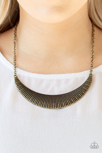 Paparazzi Modern Day Moonshine - Brass Necklace