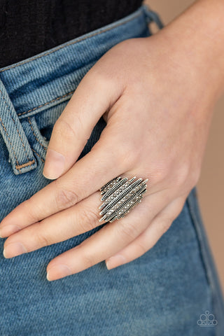 Paparazzi Shocking Sparkle - Silver Ring