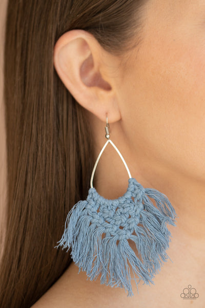 Paparazzi Oh MACRAME, Oh My - Blue Earrings