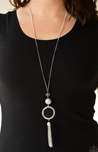 Paparazzi Bold Balancing Act - Silver Necklace