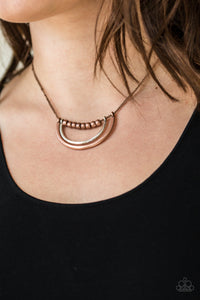 Paparazzi Artificial Arches - Copper Necklace