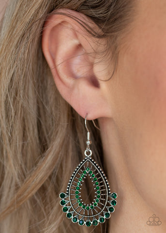Paparazzi Castle Collection - Green Earrings