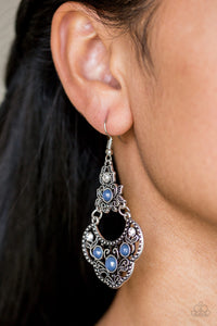 Paparazzi Garden State Glow Blue Earrings