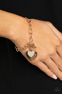 COMING SOON - Paparazzi Heartbeat Bedazzle Gold Bracelet