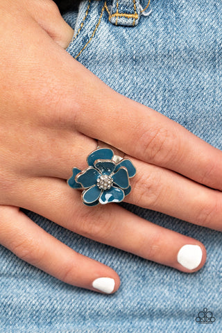 Paparazzi Hibiscus Holiday Blue Ring