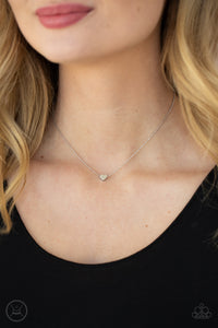 Paparazzi Humble Heart Silver Choker Necklace