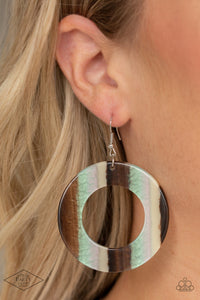 Paparazzi In Retrospect Multi Acrylic Earrings