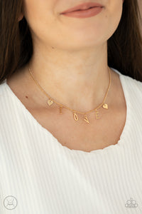Paparazzi Love Conquers All Gold Choker Necklace