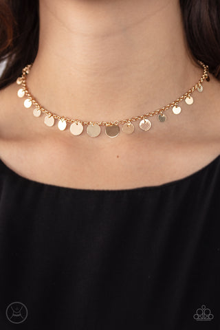 Paparazzi Minimal Magic - Gold Choker Necklace