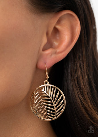 Paparazzi Palm Perfection - Gold Earrings