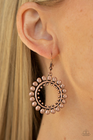 Paparazzi Radiating Radiance Copper Earrings