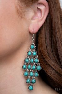 Paparazzi Rural Rainstorms Blue Earrings
