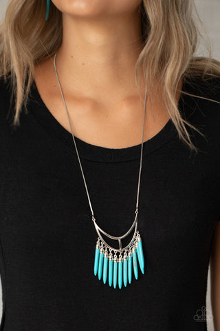 Paparazzi Stone Age A-Lister Blue Turquoise Necklace