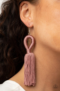 Paparazzi Tassels and Tiaras Pink Earrings