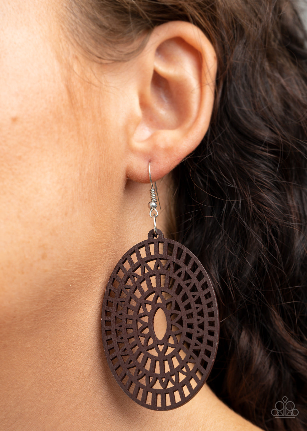Paparazzi Tropical Retreat - Brown Earrings