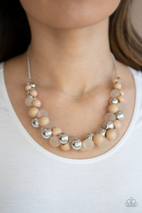 Paparazzi Bubbly Brilliance Brown Necklace