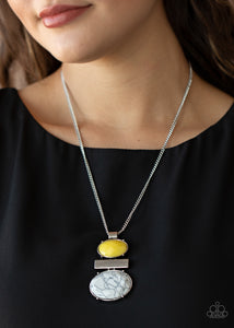 Paparazzi Finding Balance - Yellow Necklace