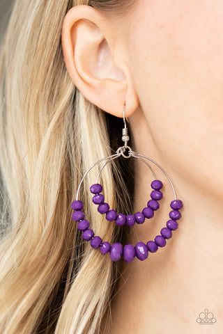 Paparazzi Paradise Party - Purple Earrings