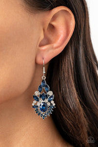 Paparazzi Ice Castle Couture - Blue Earrings