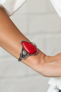 Paparazzi Blooming Oasis - Red Bracelet