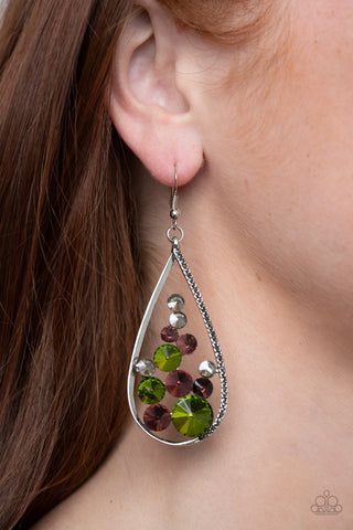 Paparazzi Tempest Twinkle - Multi Earrings