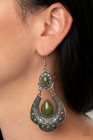 Paparazzi Rise and Roam Green Earrings