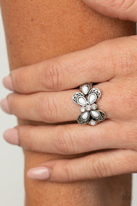 Paparazzi Boho Butterfly - White Ring