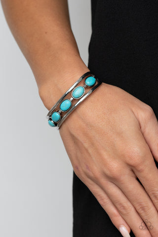 COMING SOON - Paparazzi River Rock Canyons - Turquoise Bracelet