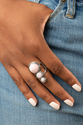 Paparazzi Marbled Magnificence - Pink Ring