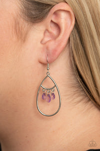 Paparazzi Shimmer Advisory - Purple Earrings