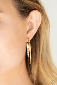 Paparazzi Reporting for Duty - Gold Earrings