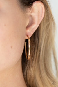 Paparazzi Chic As Can Be - Gold Earrings