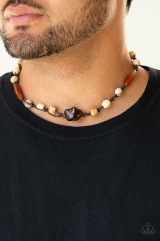 Paparazzi Island Grotto - Brown Necklace