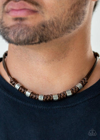 Paparazzi Rural Rumble - Brown Urban Necklace