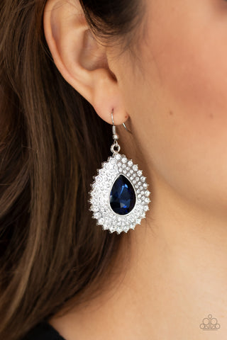 Exquisitely Explosive - Blue Earrings