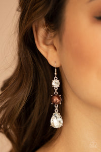 Paparazzi Unpredictable Shimmer - Brown Earrings