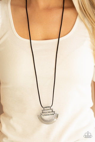 Paparazzi Rise and SHRINE - Black Necklace