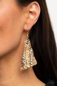 Paparazzi How FLARE You! - Gold Earrings