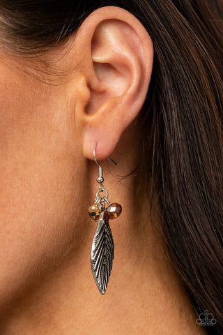 Paparazzi LEAF It To Fate - Brown Earrings