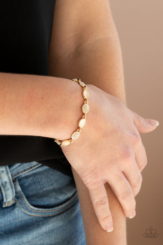 Paparazzi Stop and GLOW - Gold Bracelet