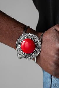 Paparazzi Tribal Pop - Red Bracelet