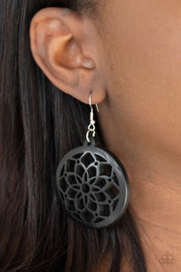 Paparazzi Mandala Meadow - Black Earrings