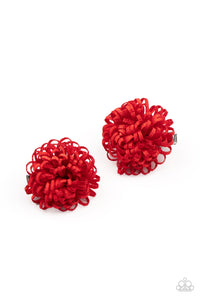 Paparazzi Pretty in Posy - Red Hair Clips
