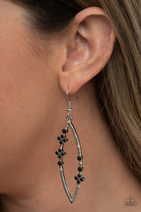 Paparazzi Flowery Finesse - Black Earrings
