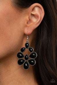Paparazzi In Crowd Couture - Black Earrings