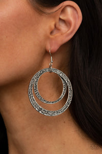 Paparazzi Rounded Out - Silver Earrings