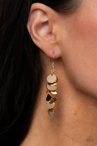 COMING SOON - Paparazzi Hear Me Shimmer - Gold Earrings