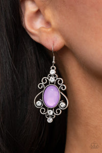 COMING SOON - Paparazzi Tour de Fairytale - Purple Earrings